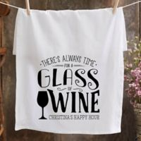 Personalized There's Always Time... Bar Towel