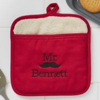 Better Together Mr. Embroidered Pot Mitt
