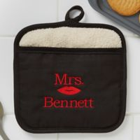 Better Together Mrs. Embroidered Pot Mitt