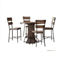 Hillsdale Furniture Jennings 5-Piece Round Counter-Height Dining Set with Stools