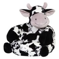 Trend Lab® Plush Cow Children's Chair in Black/White