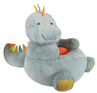 Stephan Baby Dinosaur Plush Chair in Grey