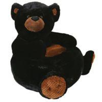 Stephan Baby Black Bear Plush Chair