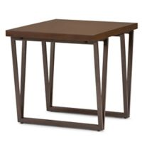 Simpli Home Ryder End Table in Aged Brown