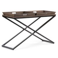 Simpli Home Damien Console Sofa Table in Elm