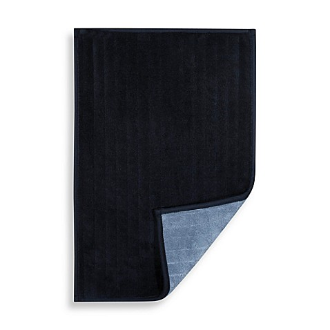 Reversible 17-Inch x 24-Inch Microfiber Step Out Mat in Navy