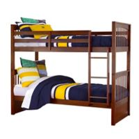 Hillsdale Furniture Pulse Twin Over Twin Bunk Bed in Cherry