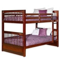 Hillsdale Furniture Pulse Full Over Full Bunk Bed in Cherry