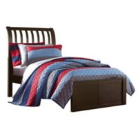 Hillsdale Furniture Pulse Twin Rake Sleigh Bed in Chocolate