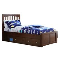 Hillsdale Furniture Pulse Twin Mission Bed with Storage in Chocolate