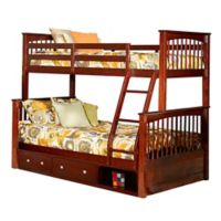 Hillsdale Furniture Pulse Twin Over Full Bunk Bed with Storage in Cherry