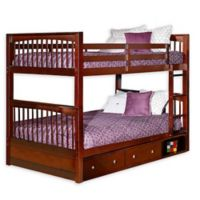 Hillsdale Furniture Pulse Full Over Full Bunk Bed with Storage in Cherry