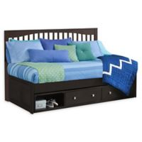Hillsdale Furniture Pulse Twin Mission Daybed with Storage in Chocolate