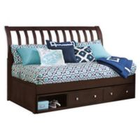 Hillsdale Furniture Pulse Rake Sleigh Twin Daybed with Storage in Chocolate