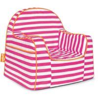 P'kolino Little Reader in Pink/White Stripes