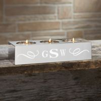 You Name It Monogram Tealight Candle Holder