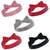 Hudson Baby® Size 0-24M 5-Pack Houndstooth Headbands in Black
