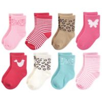 Luvable Friends® Size 12-24M 8-Pack Computer Cushion Socks in Whimsical