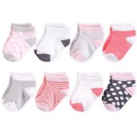 Luvable Friends™ Size 12-24M 8-Pack No Show Dot Socks in Grey