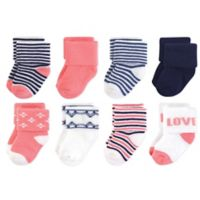 Touched by Nature Size 0-6M 6-Pack Love Organic Terry Socks in Pink