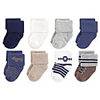 Hudson Baby® Size 0-6M 8-Pack Bear Terry Socks