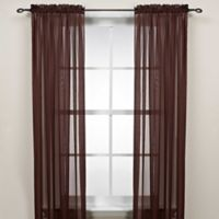 Cocoa 63-Inch Rod Pocket Sheer Window Curtain Panel