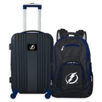 NHL Tampa Bay Lightning 2-Piece Backpack and 21-Inch Hardside Spinner Carry-On Luggage Set