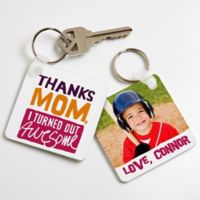 """Thanks Mom, I Turned Out Awesome!"" Photo Keyring"