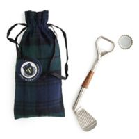 Golf Club Bottle Opener in Plaid Gift Pouch