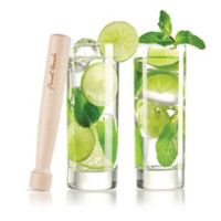 Final Touch® 3-Piece Mojito Glass and Wood Muddler Set
