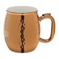 Godinger® Porcelain Hammered Moscow Mule Mug in Copper
