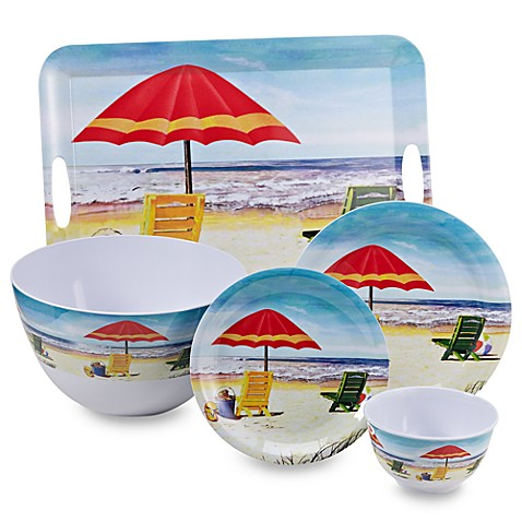 Beach Scene Melamine Dinnerware  sc 1 st  Bed Bath \u0026 Beyond & Beach Scene Melamine Dinnerware - Bed Bath \u0026 Beyond