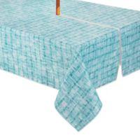 Destination Summer Essen 60-Inch x 84-Inch Oblong Tablecloth with Umbrella Hole in Aqua