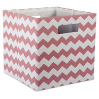 Design Imports Chevrons 11-Inch Storage Cube in Red
