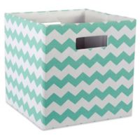 Design Imports Chevrons 11-Inch Storage Cube in Blue