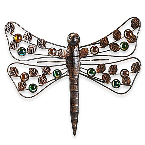 Outdoor dragonfly wall art bed bath beyond for Dragonfly wall art