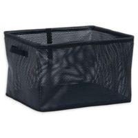 Household Essentials® Large Mesh EVA Bin in Black