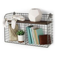 Spectrum® Vintage 2-Tier Wall Mount Shelf