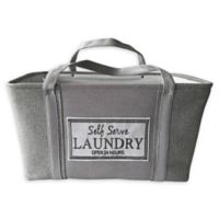 Baum-Essex Fabric Laundry Basket with Embroidered Logo