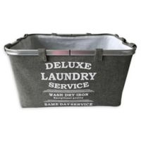 Baum-Essex Fabric Laundry Basket with Stencil Print