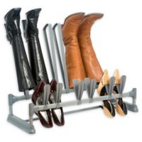 Simplify 9-Pair Shoe and Boot Organizer in Grey