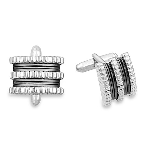 Mark & James by Badgley Mischka Off the Cuff Stainless Steel Linear Cuff Links