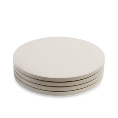 Pizzacraft round ceramic mini pizza stones set of 4