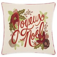 Kathy Ireland® Noel Christmas Square Throw Pillow in Natural