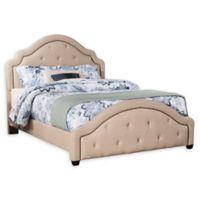 Hillsdale Furniture Belize Queen Upholstered Platform Bed with Rails in Oyster