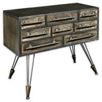Linon Home Carlson Console Table in Grey