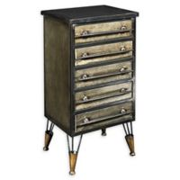Linon Home Carlson 5-Drawer Chest in Grey