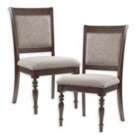Madison Park Signature Beckett Dining Side Chairs in Grey/Morocco Brown (Set of 2)