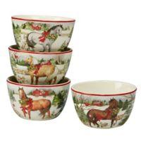 Certified International Christmas on the Farm Susan Winget Ice Cream Bowls (Set of 4)