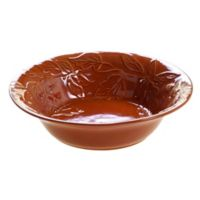 Certified International Acorn Serving Bowl in Pumpkin